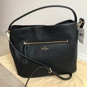 Kate Spade Michaela Black Hobo Handbag